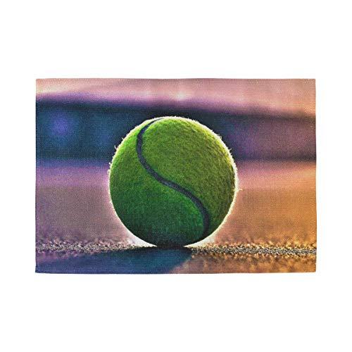 XiangHeFu Mantel Individual Resistente al Calor Fácil de Limpiar Estera de Mesa Decoración Cancha de Tenis Antideslizante Inicio 12x18inx4