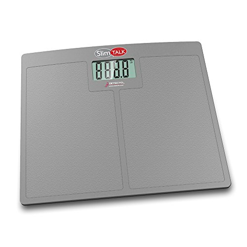 Detecto, Talking Home Health Scale, 400 lb x 0.1 lb / 180 kg x 0.1 kg, Textured Platform Surface