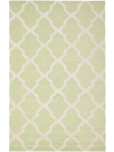 Safavieh Contemporary Rug - Cambridge Wool Pile -Light Green/Ivory Style-A Light Green/Ivory/Contemporary/12'L x 9'W/Large Rectangle