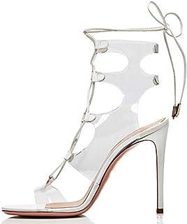 nuevo listado LFF.FF Tacones Altos para para para Mujeres, Correas para Tacones Altos - Sandalias - Zapatos de Moda para Mujeres - Tacones de Aguja (Super Altos con 8CM o más)  sorteos de estadio
