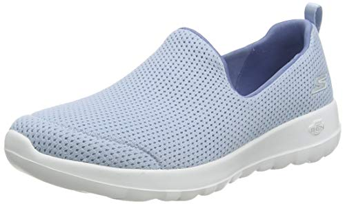 Skechers Damen Go Walk Joy Sneaker, Blau (Lt.Blue Textile/Trim Light Blue), 40 EU