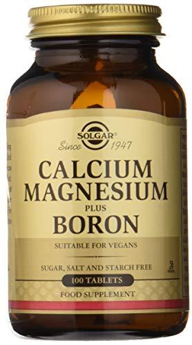 Solgar Calcio y Magnesio con Boro Comprimidos - Envase de 100
