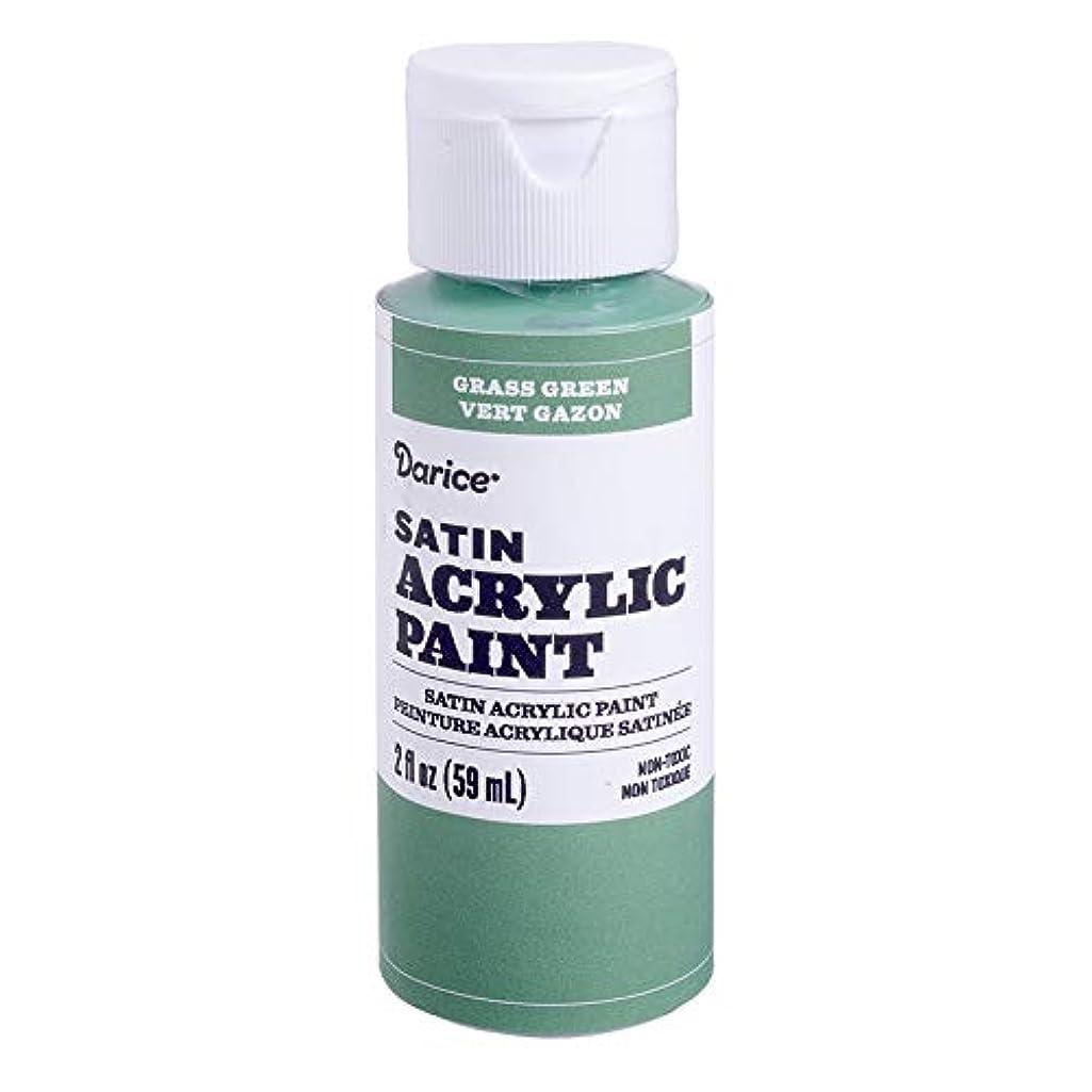 Darice 30062615 Satin Grass Green, 2 Ounces Acrylic Paint,