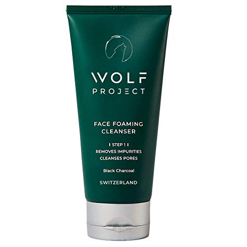 WOLF PROJECT | CHARCOAL FACE CLEANSER - Mens Face Wash, Morning Burst, Korean Skincare For Men, Activated Charcoal Beads Facial Cleanser, Mens Oil Control Face Wash, Prevent Acne, Everyday Use