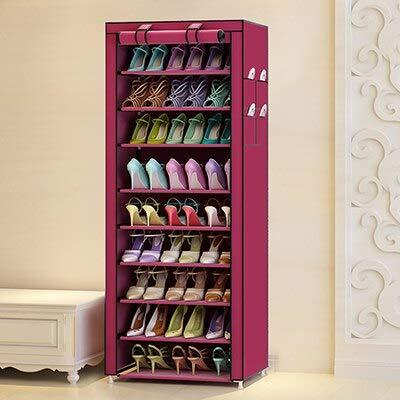 ADSIKOOJF multifunctionele Oxford doek stofdichte waterdichte schoenen kast schoenen rekken 10 lagen 9 roosters schoen Organizer plank schoenen meubels