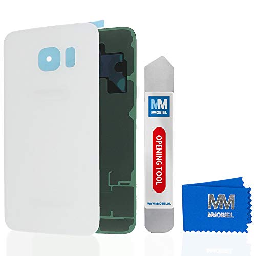 MMOBIEL Backcover Akkudeckel Rückseite Rück Klappe kompatibel mit Samsung Galaxy S6 G920 5.1 Inch (White/Weiss)