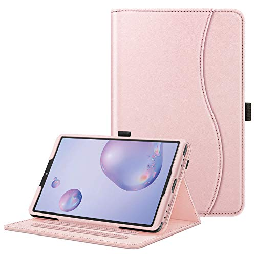 Fintie Case for Samsung Galaxy Tab A 8.4 2020 Model SM-T307 (Verizon/T-Mobile/Sprint/AT&T), [Corner Protection] Multi-Angle Viewing Smart Stand Back Cover with Pocket, Rose Gold