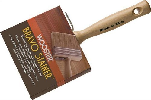 Bravo Stainer Stain Brush, 5 1/2-Inch, Brown - Wooster Brush F5116-5 1/2