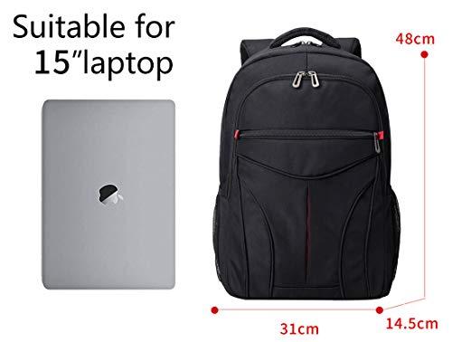 Rucksack Herren&Damen, arbeits Schulrucksack rücksack Jungen Schultasche 15,6 Zoll Laptop Rucksack Business Schule arbeits Daypack wasserdicht 21.5L
