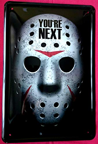 Tin Sign Blechschild 20x30 cm Eishockey Horror Maske You Are Next US Film Freitag 13. Kino Werbung Plakat