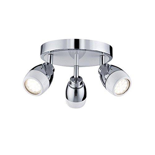 Montar a ras 3 x GU10 – Lámpara de techo mini estilo salón dormitorio comedor cocina