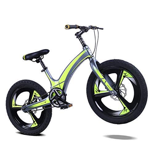 Bicicleta Bicicleta De Montaña para Niños Frenos De Disco Delanteros Y Traseros De 20 Pulgadas Aleación De Magnesio Los Estudiantes Van a La Escuela para Montar Al Aire Libre (Amarillo)