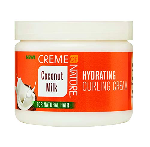 Creme of Nature Milk Hydrating Curling Cream, Coconut, 11.5 Oz