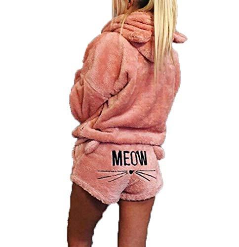 Conjuntos De Pijamas De Talla Grande para Mujer OtoñO Invierno Franela De Dibujos Animados Pijamas CáLidos Ropa De Dormir Linda Moda Femenina Ropa De Casa para NiñAs