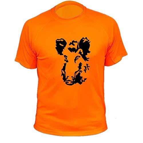 Jagd Geschenke Wildschwein einzeln Jäger T Shirt (XL,20184, Orange)