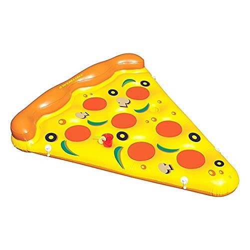 Bonita Estera Flotante Piscina de verano cama de aire gigante inflable pizza rebanada piscina piscina piscina flotador cama colchón de mar Natación Fiesta de juguete para adultos infantiles Juguetes d