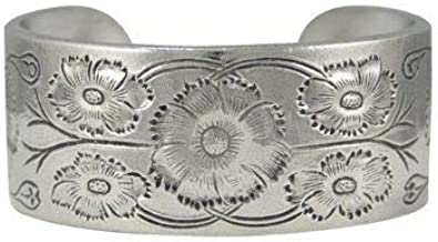 Pewter Bracelet - Flower of the Month - October