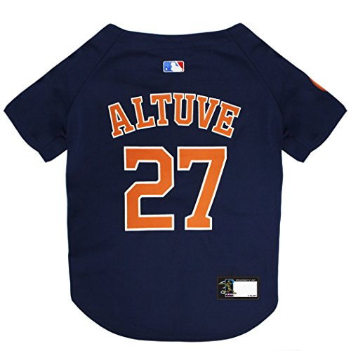 MLBPA Dog Jersey - Jose Altuve #27 Pet Jersey - MLB Houston Astros Mesh Jersey, Medium