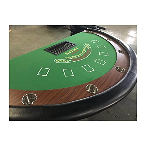JLFFYJ Mesa de Póquer Texas Hold 'Em de Mesa de Ocio de Casino para Juego de Mesa de Blackjack, Mesa de Juego Plegable Texas Hold 'Em Poker con Riel Acolchado, Totalmente Ensamblado,Verde,213x106cm