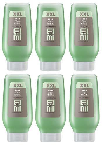6x Wella EIMI Sculpt Force XXL Flubber Gel Extra stark - 250ml