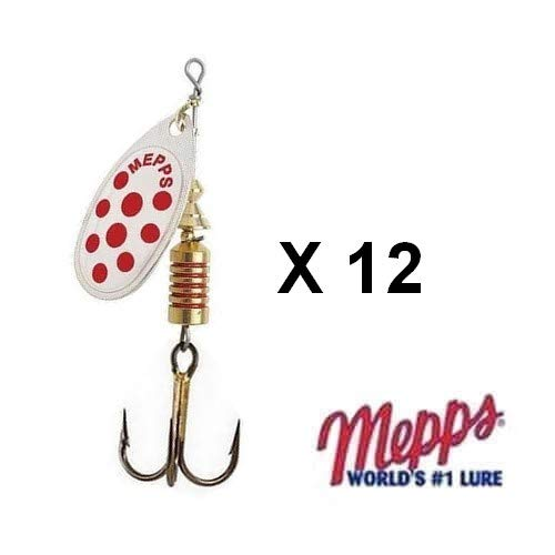 1 x leurre MEPPS cuillere AGLIA POINTROUGE lure spinner trout perch silver dot