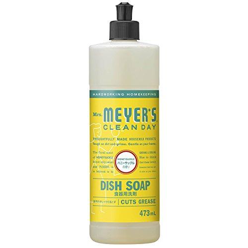 ミセスマイヤーズ クリーンデイ(Mrs.Meyers Clean Day) 食器用洗剤 ハニーサックルの香り 473mL