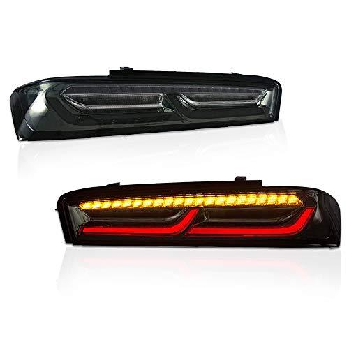 DNA Motoring TL-LED-3D-CC16-SM Pair 3D LED Bar+Sequential Turn Signal Tail Brake Light Lamp Set