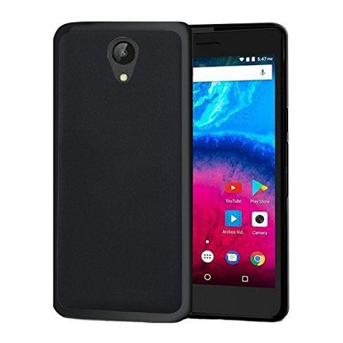 starz mobiles accessoires ARCHOS CORE 50 - Tasche Gummi TPU Schutz Handytasche (Black)