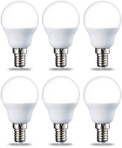 Amazon Basics E14 LED Lampe P45, Tropfenform, 2W (ersetzt 25W), klar, 6er-Pack