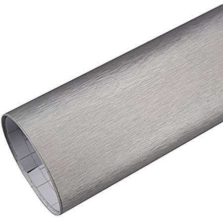 Rapid Teck 5 26 M Premium Aluminium Alu Gebürstet Silber 50cm X 1 52m Auto Folie Blasenfrei Mit Luftkanälen Für Auto Folierung Und 3d Bekleben In Matt Glanz Und Carbon Autofolie Küche
