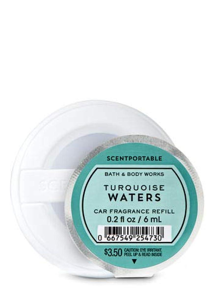 タイヤ専門化するカード【Bath&Body Works/バス&ボディワークス】 クリップ式芳香剤 セントポータブル詰替えリフィル ターコイズウォーター Scentportable Fragrance Refill Turquoise Waters [並行輸入品]
