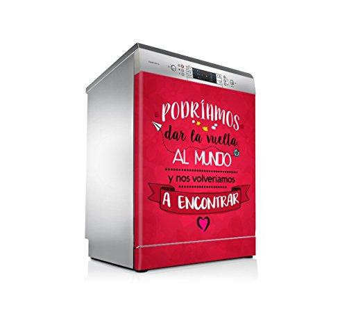 setecientosgramos Vinilo Lavavajillas | Stickers Dishwasher | Pegatina Lavavajillas | Mundo (Red)