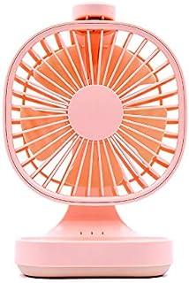 WANGSHI Ventilador Portátil De Oficina Ultra Silencioso Dormitorio Recargable Ventilador De Viento Grande Ventilador Eléctrico De Escritorio Rosa