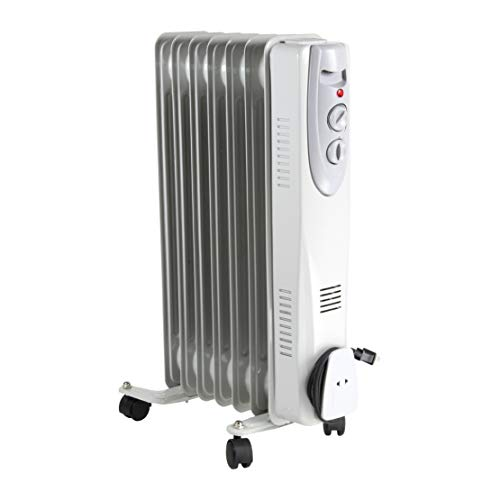 Comfort Zone CZ7007J2 Oil-Filled Electric Radiator Heater with 3 Heat Settings and Silent Operation Heater Oil Space