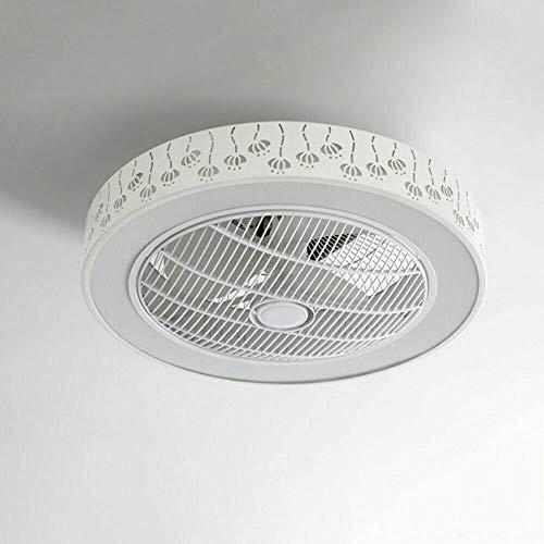 Ventilador de techo con luz, mando a distancia, lámpara LED, regulable, para dormitorio, 220 V