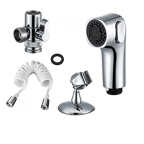 Grifo de lavabo Cabezal de ducha externo Kit de rociador de bidé caliente. Accesorios de adaptador de grifo de baño y cocina, kit de rociador de bidé de bricolaje para ducha cromada para higiene perso