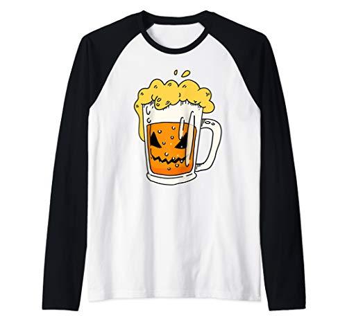 Lustiger Halloween-Laternen-Kürbis-Trinktrupp des Bier-O Raglan
