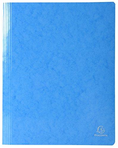 Exacompta 380806B Schnellhefter (Iderama, beschichteter Premium-Manila-Karton, wasserabweisend, 355g, A4) 1 Stück hellblau