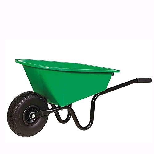 Kinderschubkarre 20 L gr�n montiert, mit PU-Rad