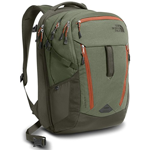 The North Face Surge Backpack - New Taupe Green/Four Leaf Clover