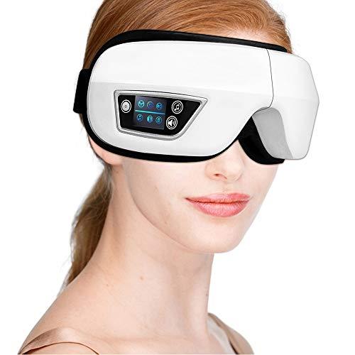 Fenshan223 4D Smart Airbag Vibration Eye Massager Care Cuidado de los Ojos Calefacción Música Bluetooth Alivia la Fatiga y los círculos Oscuros con Calor (Color : White)