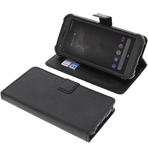 foto-kontor Tasche für CAT S52 Book Style schwarz Schutz Hülle Buch