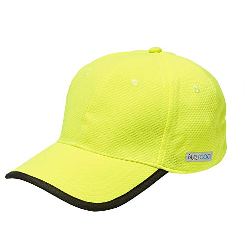 BUILTCOOL Adult Baseball Hat – Men & Women Ball Cap, One Size, Safety Yellow