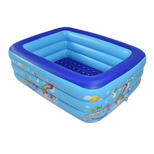 LIUXR Piscinas Hinchable, Piscina Inflable Rectangular Piscina Infantil Inflable Apta para Que Adultos Y Niños Se Reúnan En El Patio, Piscina Exterior E Interior,Blue_1.5M