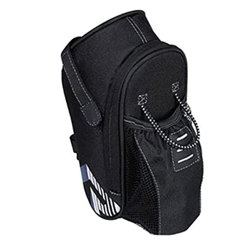 laoonl Bolsa de cola de bicicleta a prueba de suciedad a prueba de lluvia con luces traseras bolsa trasera de bicicleta de montaña