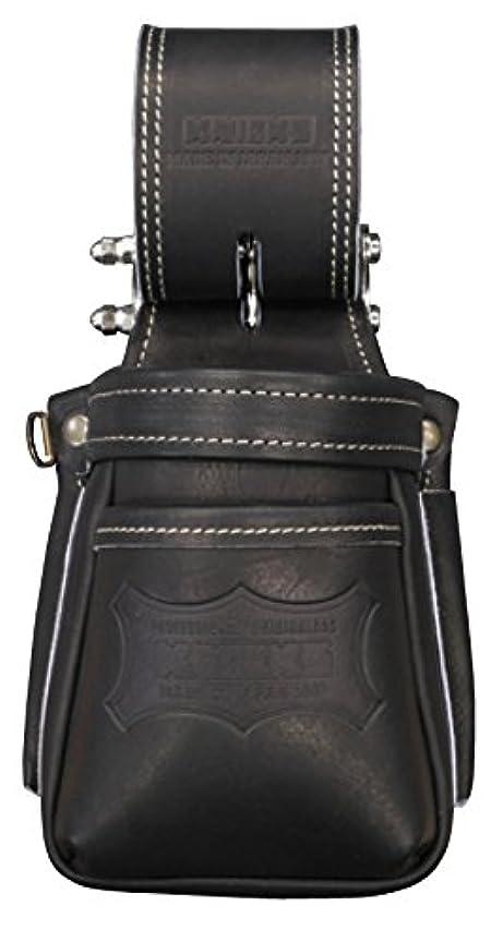 リア王法医学テザーニックス チェーン式最高級硬式グローブ革小物腰袋(ブラック) KGB-201VADX