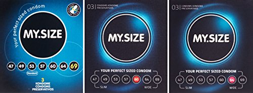 My.Size Kondome - 3er Probierset (je 3x 60, 64, 69mm)