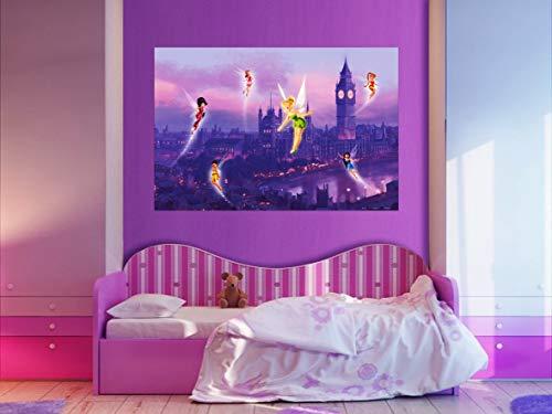 AG Design FTDm 0704 Disney Fairies Feen, Papier Fototapete Kinderzimmer- 160x115 cm - 1 Teil, Papier, multicolor, 0,1 x 160 x 115 cm