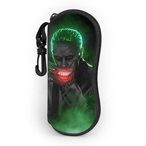 Joker Dark Knight - Funda para gafas de sol con cremallera para viaje, portátil, juego de protectores