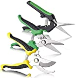 BoHoFarm Gardening Shears Garden Cutter Pruner Clippers Stainless Steel Bypass Pruning Kit Hydroponic